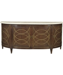 <Duchamp Demilune Sideboard with Satillia Marble Top