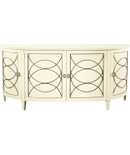 <Duchamp Demilune Sideboard With Wood Top