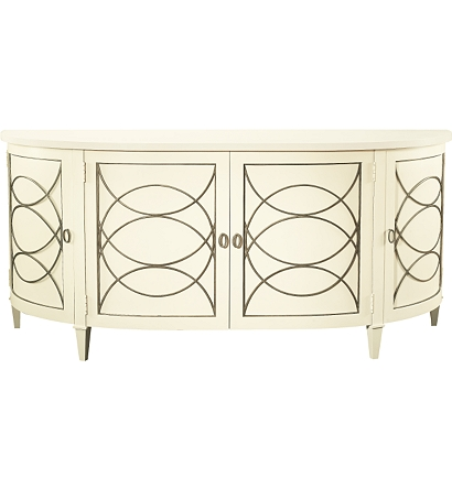 Duchamp Demilune Sideboard With Wood Top From The Atelier
