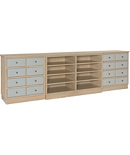 Claudette Credenza with Left and Right Drawer Piers