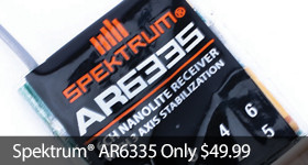 Save $20 off Spektrum AR6335 Receiver only $49.99