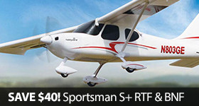 Save $40 on the HobbyZone Sportsman S+ RTF and BNF