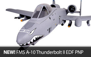 FMS A-10 Thunderbolt II EDF Plug and Play PNP