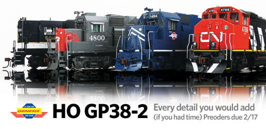 HO GP38-2. Every Detail You Would Add (If you had time). Preorders Due 2/17.