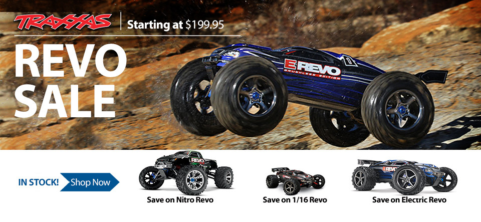 Traxxas 1/8 scale Electric Monster Truck MT Revo Mini 1/16