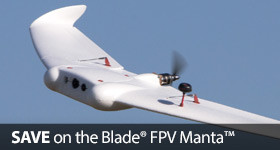 Save up to $70 on the Blade FPV Manta RC Flying Wing Airplane