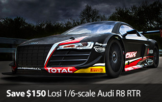Save $150 on Losi 1/6-scale Audi R8 RTR
