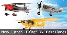 E-flite BNF Basic Planes Starting at $99