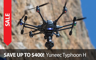 Save $300 or $400 on the Yuneec Typhoon H Hexacopter Camera Drone