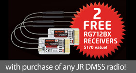 FREE RC Airplane Receivers from JR Radios!