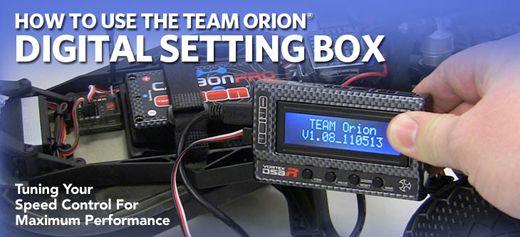 Team orion r10 & r10 pro setup sheets.