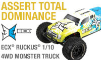 ECX 1/10 Ruckus 4WD Brushed Monster Truck RTR