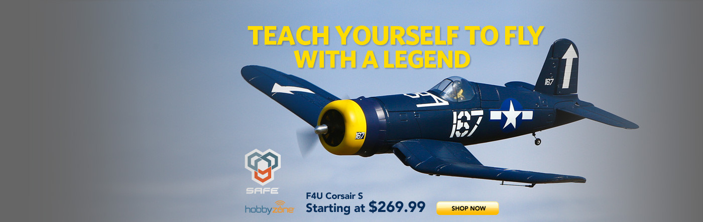 HobbyZone F4U Corsair S with SAFE Technology