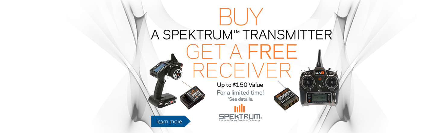 Buy a select Spektrum transmitter and get a free receiver