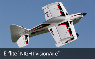 E-flite NIGHT VisionAire RC aerobatic airplane