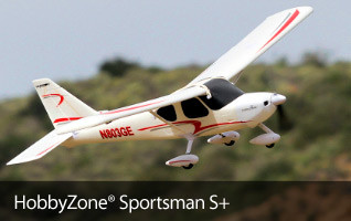 HobbyZone Sportsman S+ SAFE RTF BNF RC Radio Remote Control