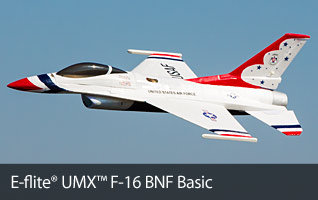 UMX™ F-16 BNF Basic RC Airplane