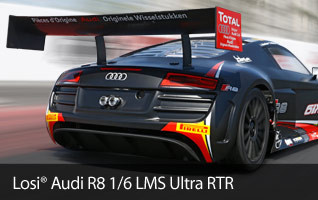 Losi Audi R8 1/6 LMS Ultra Supercar RTR Ready to Run