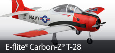E-flite Carbon-Z T-28 Scale RC Warbird Airplane