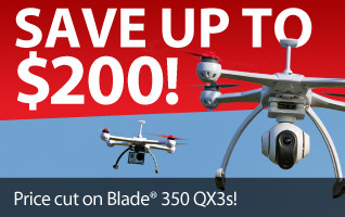 Save up to $200 on Blade 350 QX3 aerial photography RC quadcopters