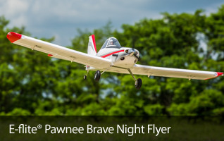 Piper Pawnee Brave Night Flyer LED Lights RC Airplane
