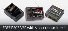 Get a free Spektrum RC receiver with the purchase of select Spektrum transmitters