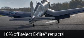 Save 10 percent on select E-flite RC Retract Sets