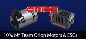 Save 10 percent on select Orion RC Motors and ESCs