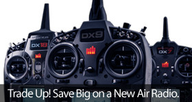 Trade in your old transmitter and save on a new Spektrum RC Radio Transmitter