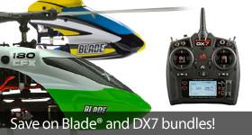 Save Big on a DX7 and a Blade Heli Bundle