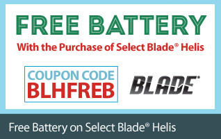 Get a Free Battery with the Purchase of Select Blade Helis