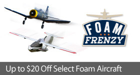 Foam Frenzy - Save up to $20 on foam RC aircraft