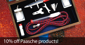 Save 10 percent on all Paasche RC Products
