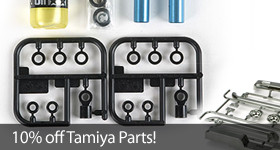 Save 10 percent on Tamiya RC Parts