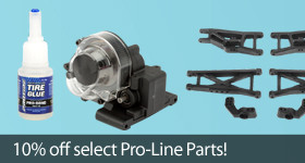 Save 10 percent on select Pro-Line RC Parts and Accessories