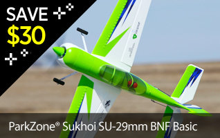 Save $30 on the ParkZone Sukhoi SU-29MM BNF Basic Aerobatic RC Airplane Black Friday Cyber Week Doorbusters