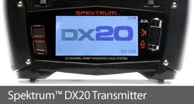 Spektrum DX20 aircraft Transmitter Carbon Fiber DSM DSMX DSM2 TX