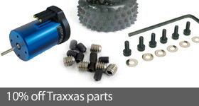 Save 10% on select Traxxas RC parts and accessories