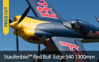Save $40 on the Staufenbiel Red Bull Edge 540 1.3m BNF Basic with AS3X
