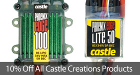 Save 10 percent on all Castle Creations products