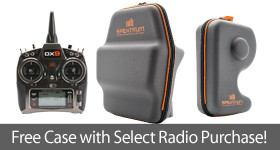 FREE Case with purchase of select Spektrum Transmitter