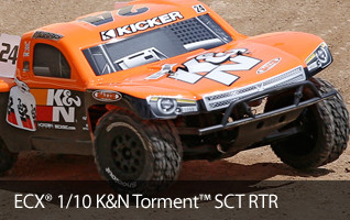 ECX K&N KN K and N Filters Torment SCT Short Course Truck RTR Ready To Run