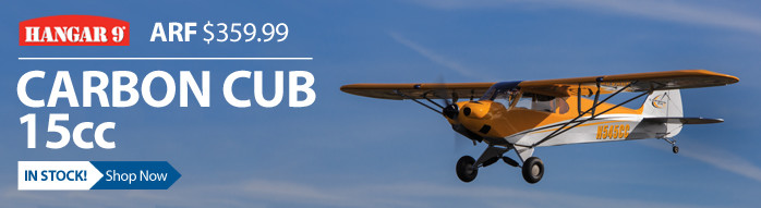 Hangar 9 Carbon Cub 15cc ARF Giant Scale Civilian RC Airplane
