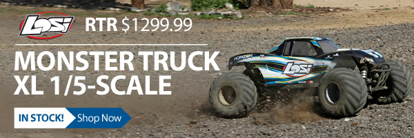 Demolish the off-road at maximum magnitude with the Losi Monster Truck XL
