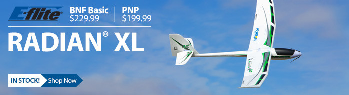 E-flite Radian XL 2.6m Powered RC Glider Sailplane