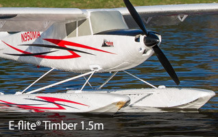 E-flite Timber 1.5m Meter BNF Bind N Fly Basic Float Plane Airplane