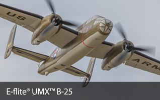 E-flite UMX B-25 Mitchell Ultra Micro Warbird RC Airplane