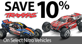 Save 10% on Select Traxxas Nitro Vehicles