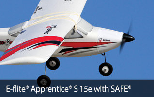 E-flite Apprentice S 15e Trainer RC Airplane with SAFE Technology