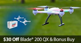 Save Bundle Discount 200 QX Quad Copter Drone
